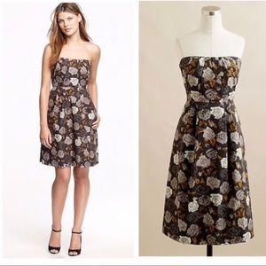 J Crew Marielle Dress 6 Solstice Floral Strapless